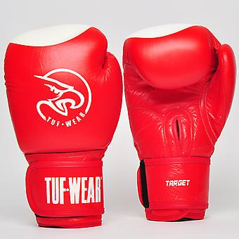 Tuf Wear Target Leather Safety Spar Red / White
