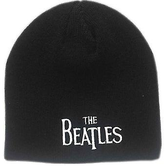 The Beatles Beanie Hat Classic Drop T Band Logo new Official Black
