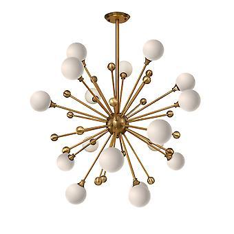 Lámpara de araña Pom Pom moderna de oro bruñido