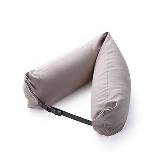 WONDEFO Luxurious Soft Travel Neck Pillow en gris