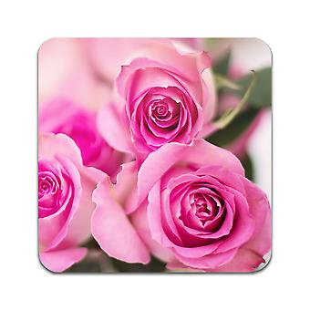 2 ST Pink Roses Coasters
