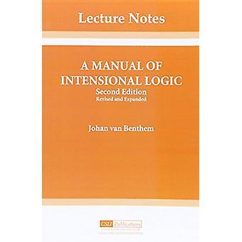 A Manual of Intensional Logic by Johan van Benthem - 9780937073292 Bo