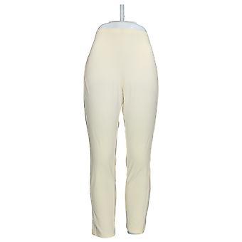 Frauen mit Kontrolle Petite Leggings Pull-On W / Seitenteile Elfenbein A284265