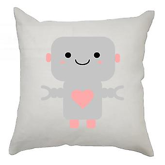 Robot Cushion Cover 40cm x 40cm - Grey Robot