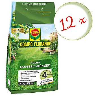 Sparset: 12 x COMPO Floranid® Long-term lawn fertilizer, 12 kg