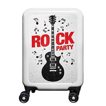 meinTrolley Rockparty S, 4 rollen, 55 cm, 32 L, Wit