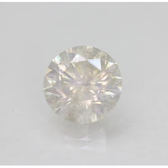 Certified 2.56 Carat H SI2 Round Brilliant Enhanced Natural Loose Diamond 8.76mm
