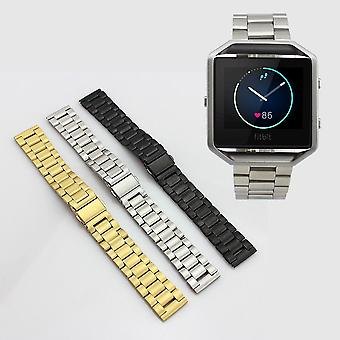 Stainless Steel Metal Watch Band Bracelet Strap Solid Links for Fitbit Blaze[Gold]