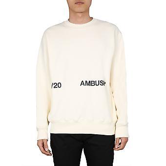 Ambush 12112067ofwh Men's White Cotton Sweatshirt