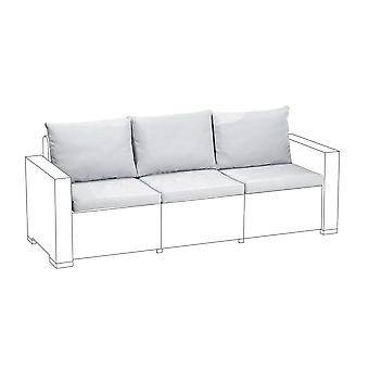 Gris 6pc cojines de asiento set para Keter Allibert California sofá de 3 plazas