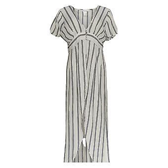 K Jordan Women's Top Striped Flyaway Long Black /White