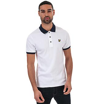 Men's Lyle And Scott Slim Stretch Contrast Polo Shirt in Blue