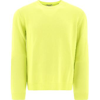 Valentino Uv3kc03k5fbbc5 Homme's Pull en cachemire jaune