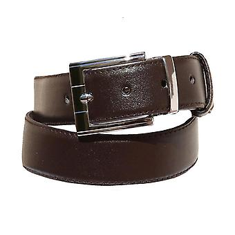 Boys Faux Leather Dark Brown Belt