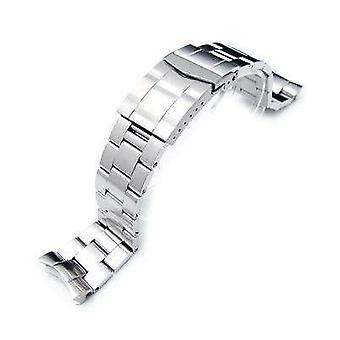 Bracelet de montre strapcode 22mm super 3d montre d'huîtres bande pour seiko plongeur skx007/009/011, fermoir sous-marinier solide