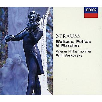 Boskovsky/Vienna Philharmonic Orch. - Strauss: Waltzes, Polkas & Marches [CD] USA import