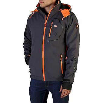 Geographical Norway - Clothing - Jackets - Tranco_man_dgrey-orange - Men - dimgray,orange - XXL