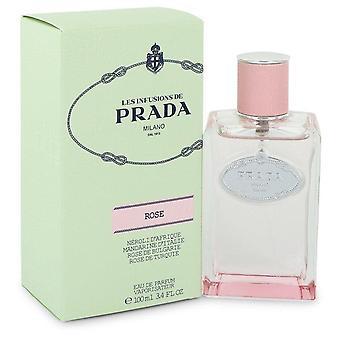 Prada infusion de rose eau de parfum spray by prada 548152 100 ml