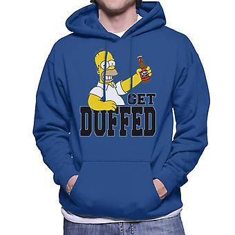 The Simpsons Get Duffed Homer Men's Hooded Sweatshirt