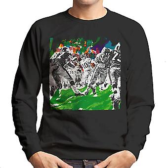 Lørdag aften Post American Football Sketch Paul Calle Men's Sweatshirt