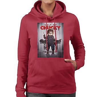 Chucky Cult Of Chucky Poster Women's Hooded Sweatshirt