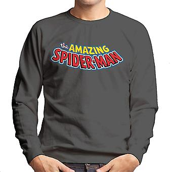 Marvel Avengers The Amazing Spider Man Text Men's Sweatshirt