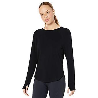 Core 10 Women's Standard Yoga CoreCloud Fleece Long Sleeve Sweatshirt, Black XL (16) -  Vine