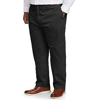 Essentials Men's Big & Tall Relaxed-fit Casual Stretch Khaki Pant fit ...