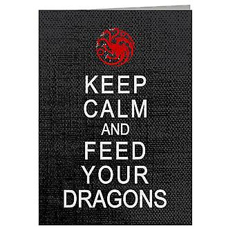 Feed Dragons Game Of Thrones Greeting Card