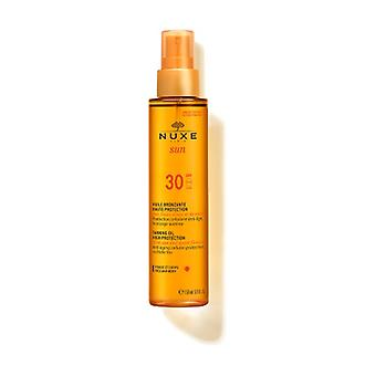 Nuxe Sun - Tanning Oil for Face and Body High Protection SPF30 150 ml (Coconut - Orange - Floral)