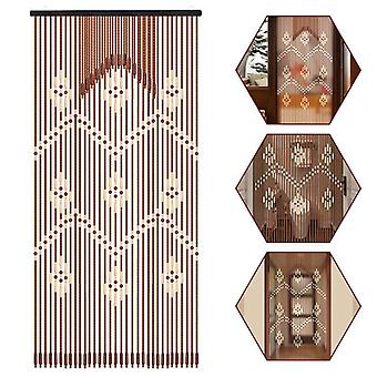 Wooden Bead Hanging Door Curtain 220 X90cm - Household Bathroom Porch Partition