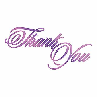 Couture Creations Everyday Sentiments Hotfoil Stamp Thank You
