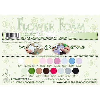 Leane Creatief Flower Foam Sheets A4 Mint