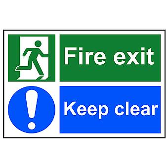 Scan Fire Exit Keep Clear - PVC 300 x 200mm SCA1540