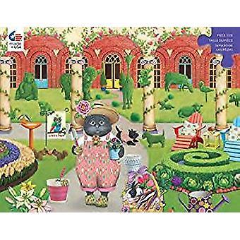 Puzzle - Ceaco - Gigi the Cat The Gardener 300pc New 2249-3