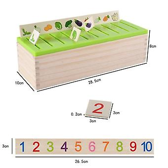 Mathematical Knowledge Classification Cognitive Matching- Montessori Early Educational Learn Toy Wood Box Gifts for Children (as Picture)