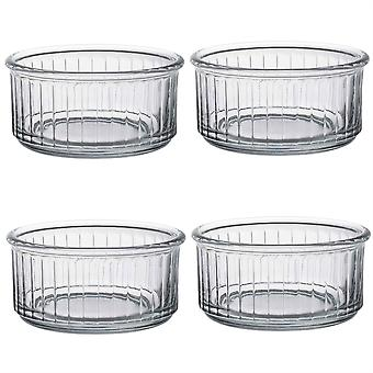 Duralex Oven Chef Glass Ramekins for Crème Brulee, Desserts - 10cm - Pack of 4