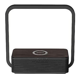 Aura Bluetooth-luidspreker met draadloze oplaadpad en aanraaklichtzwart (GVWC03BK)