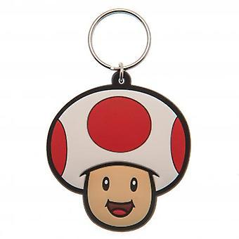 Super Mario PVC Keyring Toad