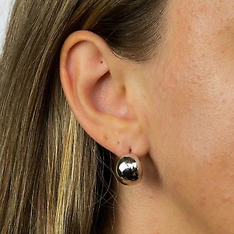 Fiorelli Silver Organic Huggy Hoop Earrings E5885