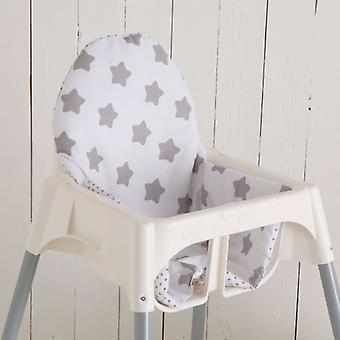 Puckdaddy Seat Perna Rikka pentru IKEA High Chair Antilop Stele Puncte Albe