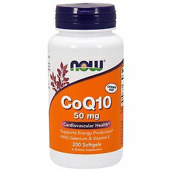 Nu Foods CoQ10, w/VIT E 50 mg, 200 Sgels
