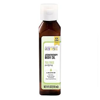 Aura Cacia Harvest Aromatherapy Body Oil, Tea Tree 4 oz