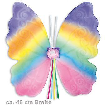 Vlinder vleugels gekleurd 45x49cm Elfen feeën accessoire