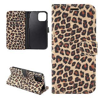 iPhone 12 / 12 Pro Plånboksfodral Fodral Leopard - Brun