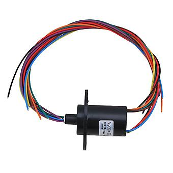 5A 240V 500rpm 8-way Conductors Circuits Slip Ring for Test Equipment