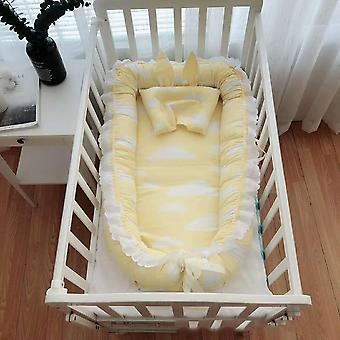 90*55cm Portable Baby Nest Bed With Pillow Cushion For Boys / Girls Travel Bed Infant Cotton Cradle Crib Baby Bassinet Newborn Bed