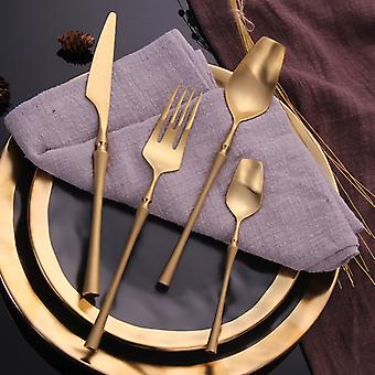 Stainless Steel Cutlery Set Western Food Cutlery Dinnerware Set Tableware Dinnerware Forks Knives Spoons