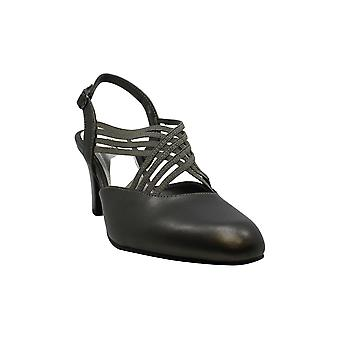 من السهل شارع المرأة & ق أحذية الياقوت الجلود جولة مضخات SlingBack كلاسيك