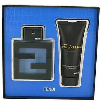 Fan Di Fendi Acqua By Fendi Gift Set -- 3.3 Oz Eau De Toilette Spray + 3.3 Oz All Over Shampoo (men) V728-530518